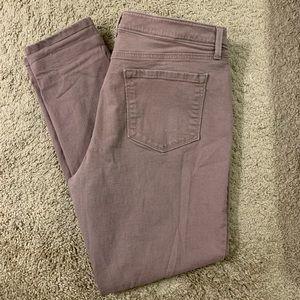 LOFT Curvy Skinny Light Purple Jeans- Size 14/32